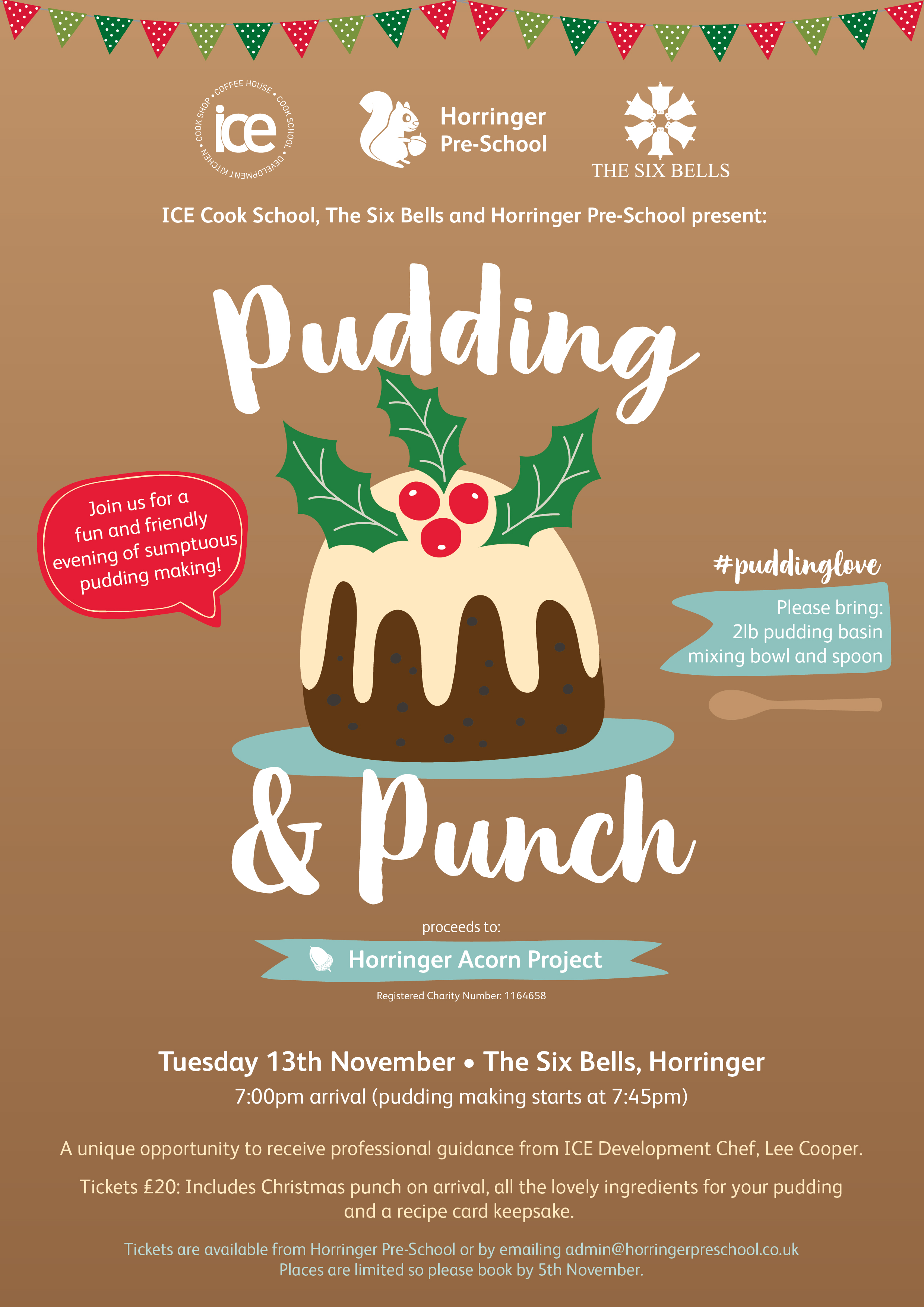 Christmas Pudding & Punch Night – 13th November 2018!!