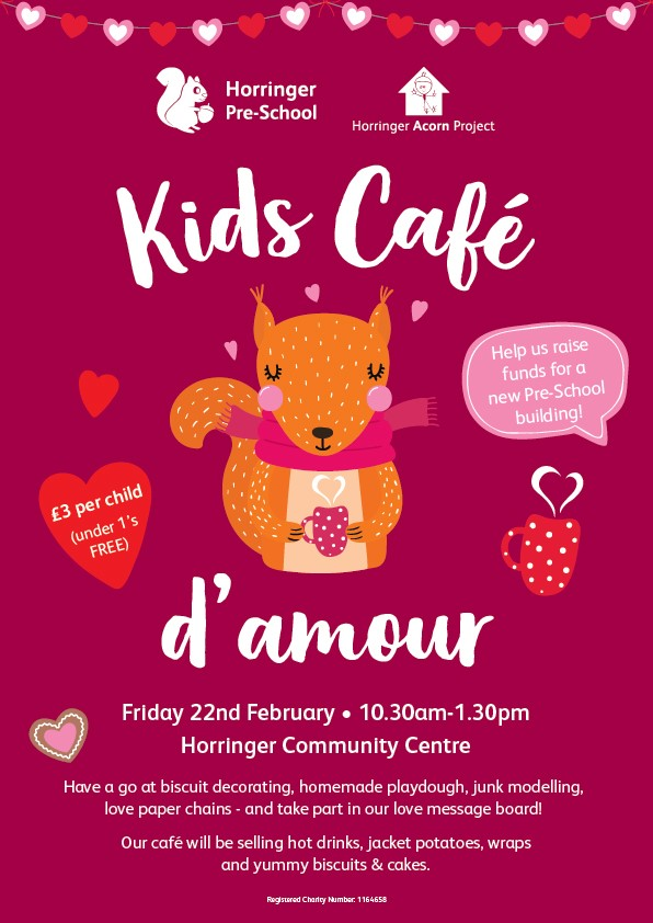 Join us for Kids Cafe d'amour!