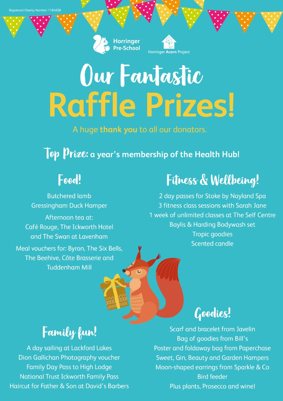 What a fabulous selection of raffle prizes!