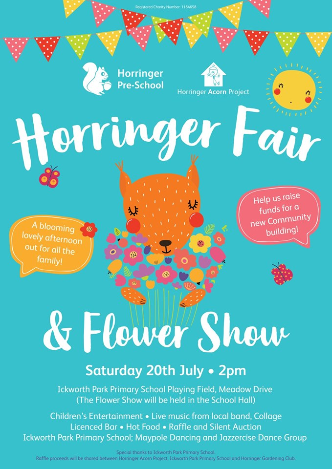 Join us at the Horringer Fair & Flower Show on Saturday, 20th July