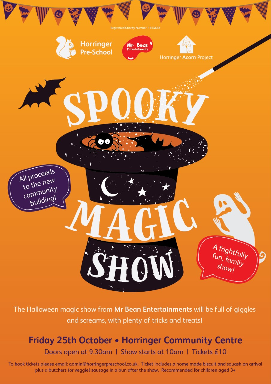 Spooky Magic Show – Friday 25th October!
