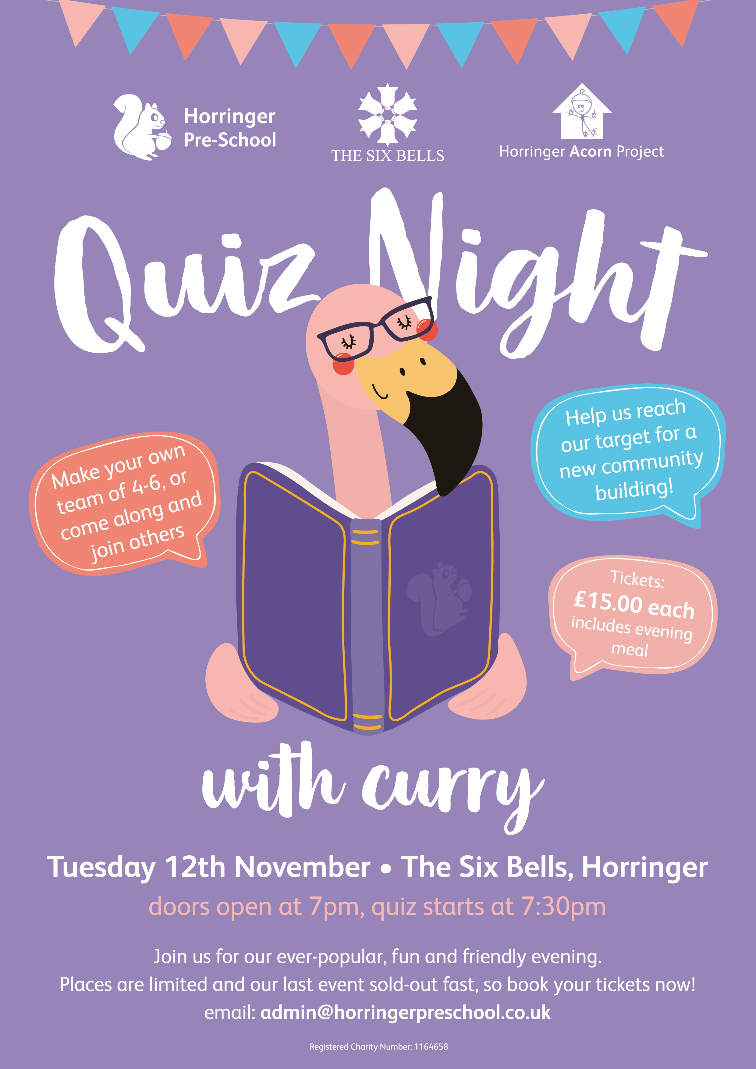 Do you love a good pub quiz? Then join us on the 12th November!