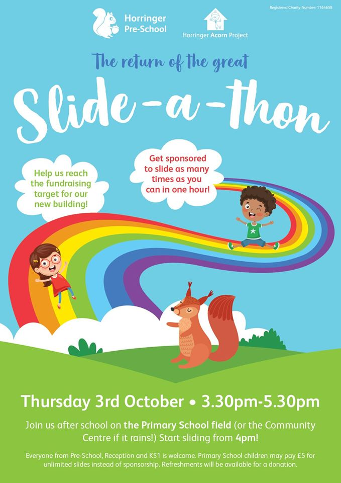 Join us for a slide – Thursday 3rd October