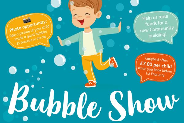 join us for the bubble show