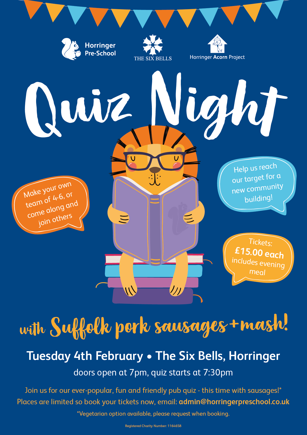Put your thinking caps on for our next event – quiz night at the 6 Bells