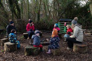 Rebecca dolman leads the horringer forest school
